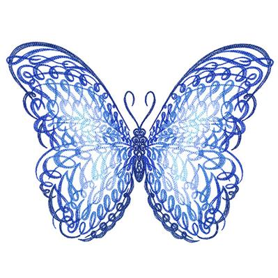 Calligraphic Morpho Butterfly_image