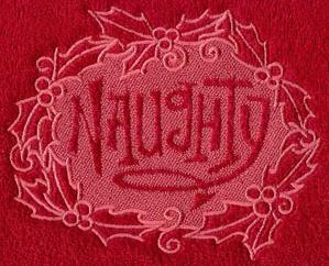Naughty (Embossed)_image