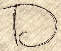 Handwriting Letter D - Uppercase_image