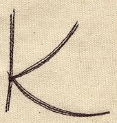 Handwriting Letter K - Uppercase_image