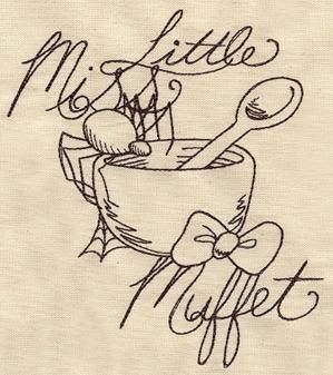 Nursery Rhymes - Little Miss Muffet Sketch_image