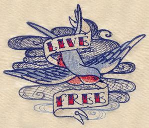 The Seven Seas - Live Free Tattoo_image