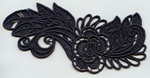Flower and Feathers Flourish (Lace)_image