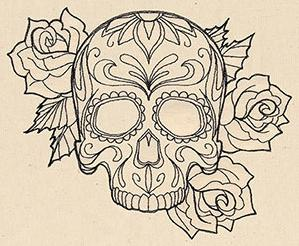 Thread Tattoos - Sugar Skull_image