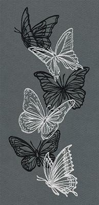 Flight & Dark Butterflies - Vertical Border_image