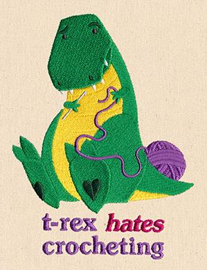 T-Rex Hates Crocheting_image