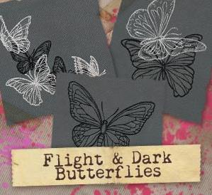Flight & Dark Butterflies (Design Pack)_image