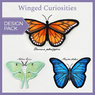 Winged Curiosities (3D Applique) (Design Pack)_image