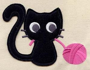 Knittin' Kitten (Applique)_image
