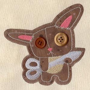 Button Buddy - Bunny (Applique)_image