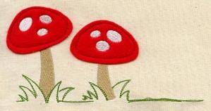 Tiny Mushrooms (Applique)_image