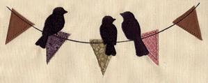 Birds and Bunting (Applique)_image