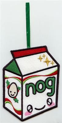 Kawaii Christmas - Eggnog (Ornament)_image