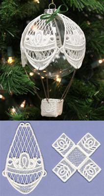Hot Air Balloon Ornament Cover (Lace)_image