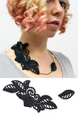 Asymmetrical Bloom Necklace (Lace)_image