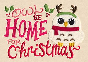 Owl Be Home for Christmas (Applique)_image