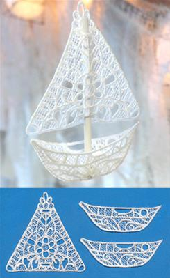 Dreamer's Sailboat (Lace)_image