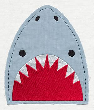 Shark Pocket Topper (Applique)_image