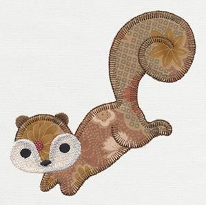 Patchwork Thicket - Squirrel (Applique)_image