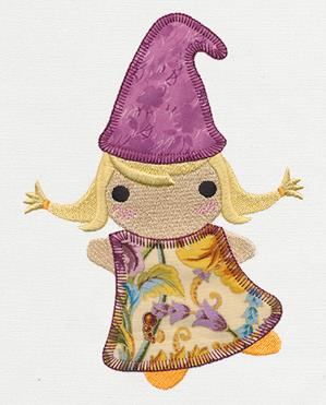 Patchwork Thicket - Mrs. Gnome (Applique)_image