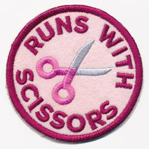 Crafty Merit Badges - Runs with Scissors (Patch)_image