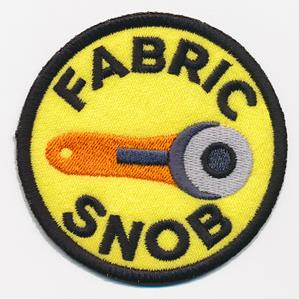 Crafty Merit Badges - Fabric Snob (Patch)_image