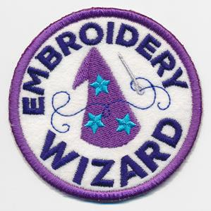 Crafty Merit Badges - Embroidery Wizard (Patch)_image