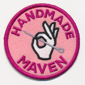 Crafty Merit Badges - Handmade Maven (Patch)_image
