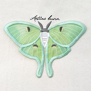 Winged Curiosities - Luna Moth (3D Applique)_image