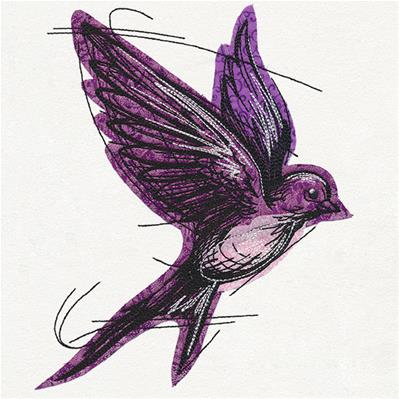 Sketched Swallow (Applique)_image