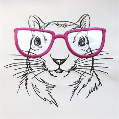 Squirrel Specs (Vinyl Applique)_image
