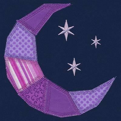 Crescent Moon Quilt Block (In-the-Hoop)_image