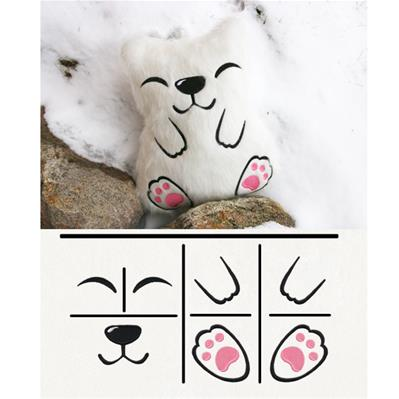Polar Bear Plush Kit_image