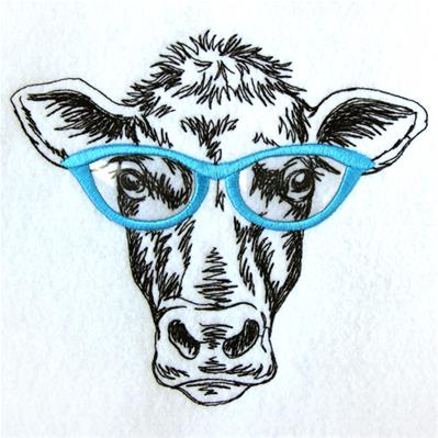 Cow Specs (Applique)_image