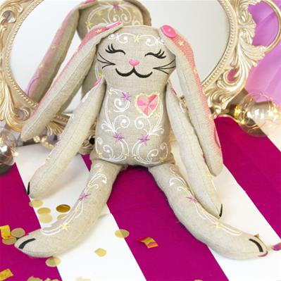 Cutie Carnival Bunny Doll (In-the-Hoop)_image