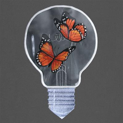 Bright Idea Butterflies (Vinyl Applique)_image