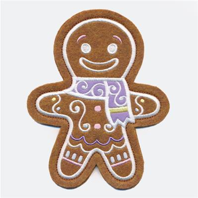 Christmas Cookie - Gingerbread Man  (In-the-Hoop)_image