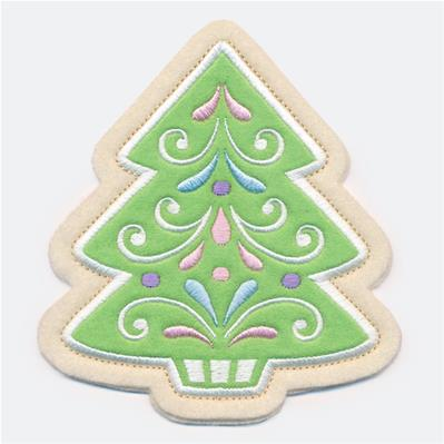 Christmas Cookie - Tree (In-the-Hoop)_image