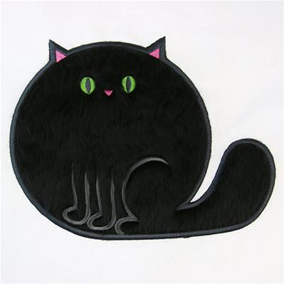Fluffy Critters Cat (Applique)_image