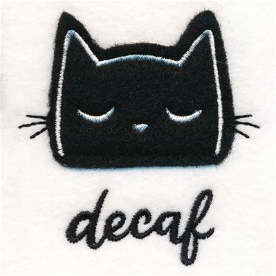 Coffee Cat - Decaf (Applique)_image