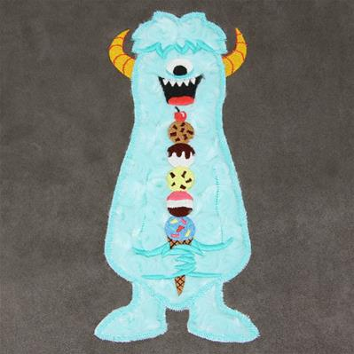 Fluffy Ice Cream Monster (Applique)_image