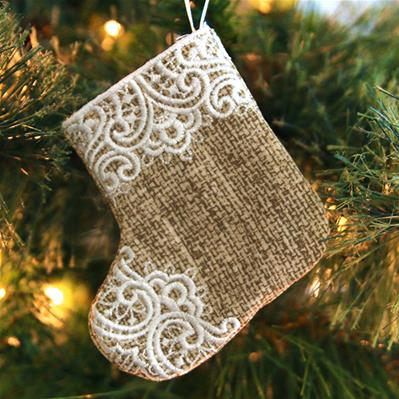 Christmas Stocking Ornament (In-the-Hoop)_image