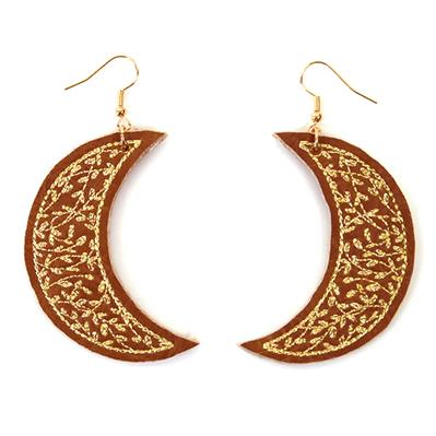 Celestial Blooms Leather Earrings (In-the-Hoop)_image