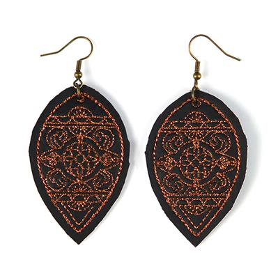 Intricate Details Leather Earrings (In-the-Hoop)_image