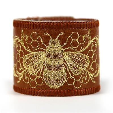 What's The Buzz Leather Cuff (In-the-Hoop)_image
