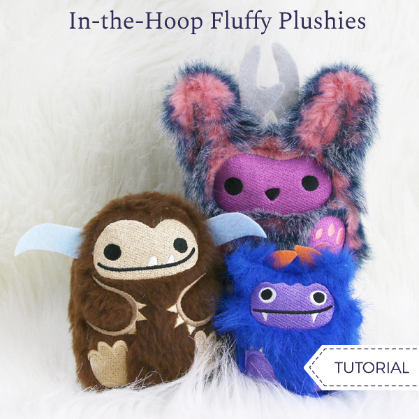 In-the-Hoop Fluffy Plushies