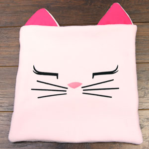 Sweet Bunny and Kitty Face Pillows