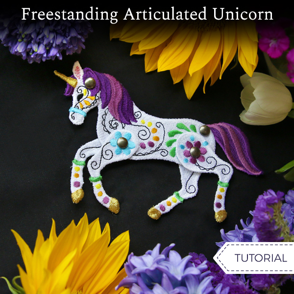 Freestanding Articulated Unicorn