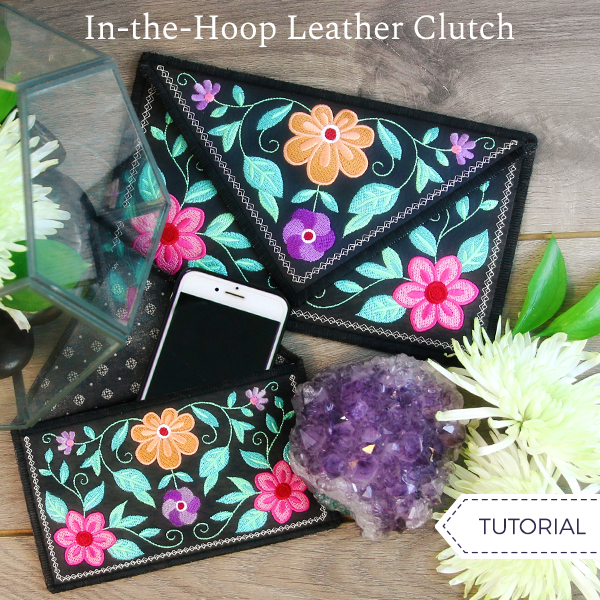 In-the-Hoop Leather Clutch