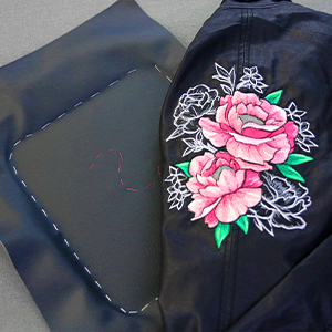 Embroidering on Faux Leather